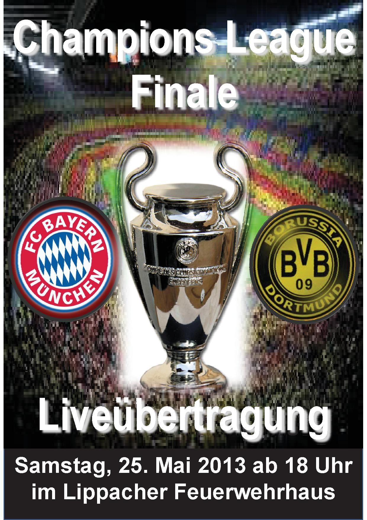 Flyer Champions League Finale
